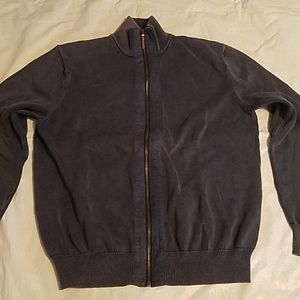 Michael Kors Blue Zipper Front Sweater Sz LG